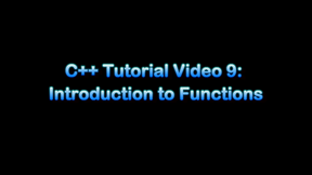 11  Introduction to c++: Introduction to functions II