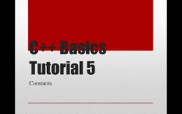 5. Introduction to c++: Constants: Basic Programming for Beginners